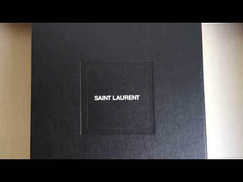 94bf23756d0 Saint Laurent Loulou leather over-the-knee boots Unboxing - YouTube