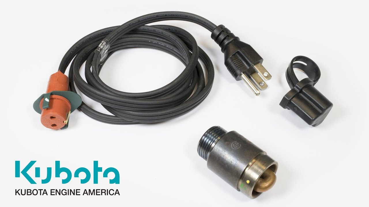 medium resolution of block heaters easier starts longer engine life kubota engine america youtube
