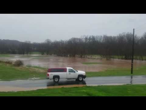 April 6th the big flood here at the farm in Elizabethtown Pennsylvania.