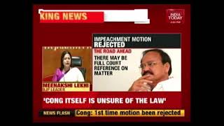BJP Hits Back At Congress Over CJI Impeachment Row | Meenakshi Lekhi Press Conference