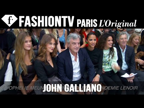 John Galliano Front Row ft Nina Agdal | Paris Fashion Week Spring 2015 | FashionTV