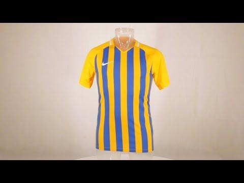 359db6ab Nike Striped Division III Short Sleeve Senior Football Shirt University Gold/Royal  Blue