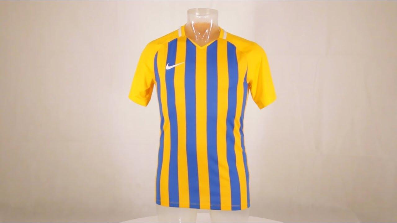 73e6d6e5bd Nike Striped Division III Short Sleeve Senior Football Shirt University  Gold/Royal Blue