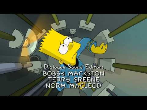 Simpsons star trek end credits.