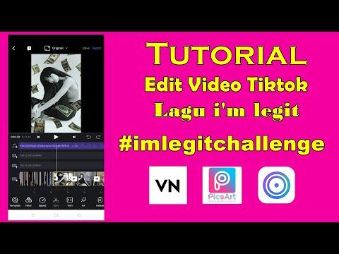 Cara Edit Video I'm Legit Challenge Tiktok
