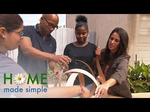 DIY Whimsical Wooden Lamp   Home Made Simple   Oprah Winfrey Network