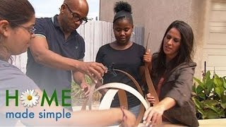 Diy Whimsical Wooden Lamp | Home Made Simple | Oprah Winfrey Network