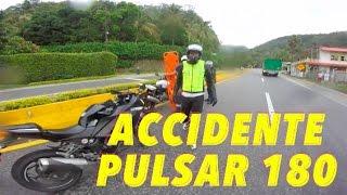 candeliada   accidente   vs pulsar 180 200 ns   curvas   drag race