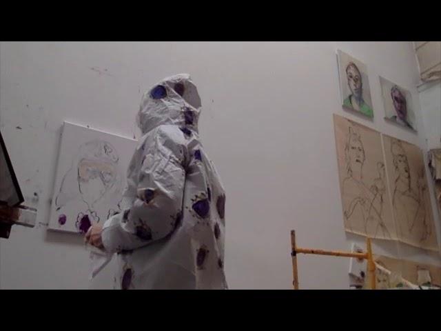 Self as Coronavirus painting a self-portrait