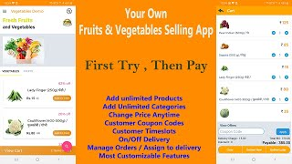 Fruits and Vegetables Business Android App Demo Hindi