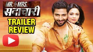 Mr & Mrs Sadachari | Trailer Review | Vaibhav Tatwawadi | Prarthana Behere | Marathi Movie