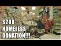 GIVING $200 WORTH OF GIFT BAGS TO THE HOMELESS!!!