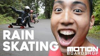 Longboarding at Slug Wars in the Rain // Motion Boardshop