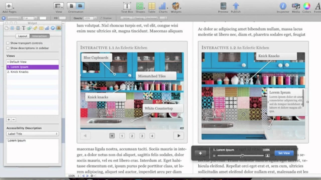 Interactive Images in iBooks Author Tutorial - YouTube