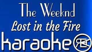 The Weeknd - Lost in the Fire [ karaoke lyrics instrumental ] ft. Gesaffelstein