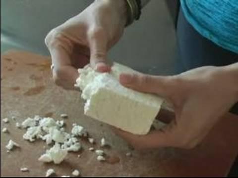How To Make Tomato & Feta Salad : Crumble Feta Cheese For Tomato & Feta Salad