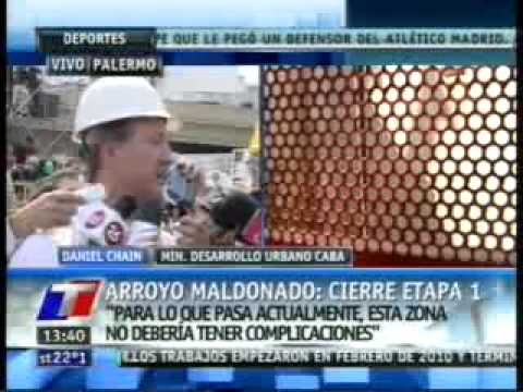 La tuneladora del arroyo Maldonado
