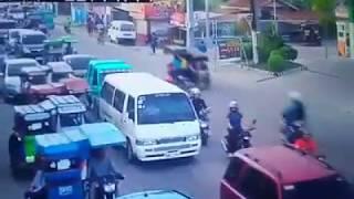 Overspeeding Car Accident hitting Tricycle in Mactan, Cebu