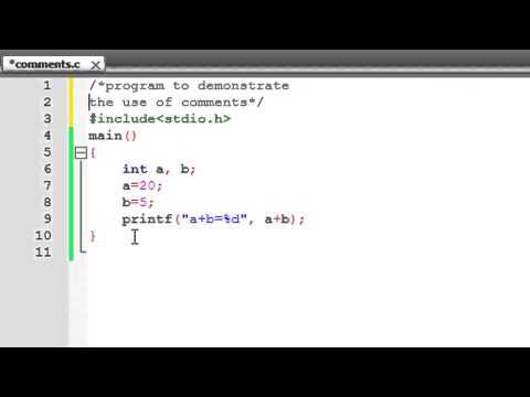 C Programming Tutorial-4: Comments, Newline Escape Sequence & Arithmetic Operators (Contd.)