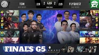 FlyQuest vs TSM - Game 5 | Grand Final Playoffs S10 LCS Summer 2020 | FLY vs TSM G5