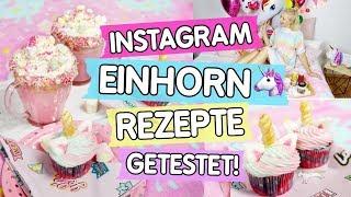 3 Instagram Einhorn Rezepte getestet! 🦄 Heiße Einhorn Schokolade, Einhorn Cupcakes & Pancakes 😍