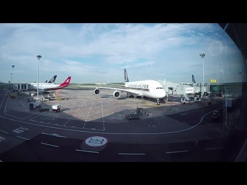 Singapore Airlines A330 Taxi of full Changi Airport * Plane Spotting Dream