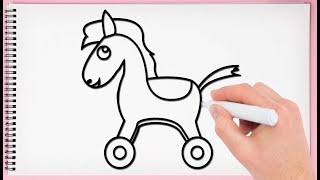 How to Draw a Toy horse Learn Drawing a Toy Horse Step by Step for Kids
