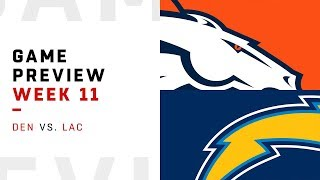 Denver Broncos vs. Los Angeles Chargers | Week 11 Game Preview | NFL Playbook