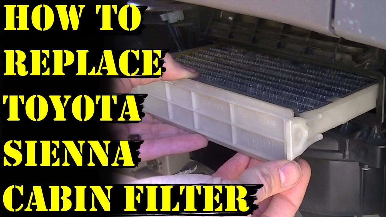 How to replace the cabin air filter on a toyota sienna minivan