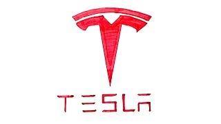 How to Draw the Tesla Logo
