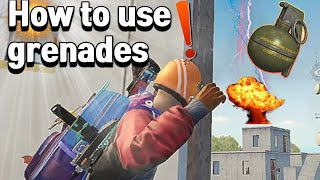 THE GRENADE KING | How to use grenades | Asia Ranking #1 Tip | PUBG MOBILE