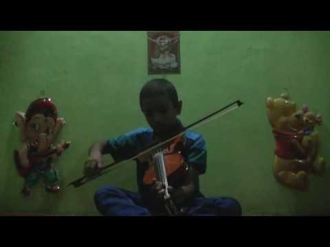 Sinhala violin lesson 1 by Praveen Kavinda Welgama