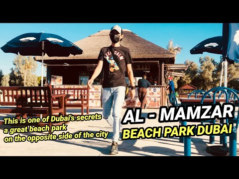 Walk With Me To AL MAMZAR BEACH PARK DUBAI / DECENT SERENE PIECE OF PARADISE WITH IN THE CITY 🇦🇪