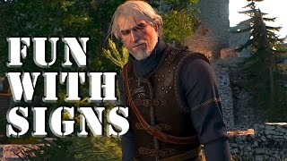 The Witcher 3: Fun with Axii, Igni, Aard, Yrden & Quen