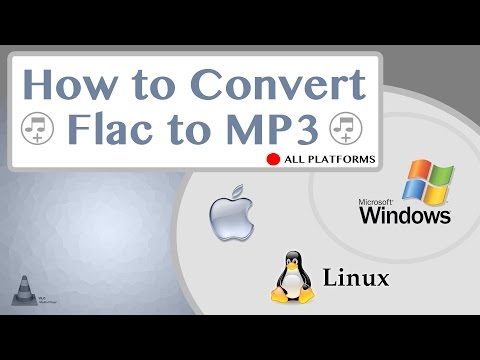 How fast to convert flac to mp3 and wma wav m4a Mac OS X Windows Linux VLC