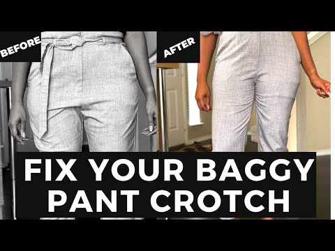 How To Alter Your Pants : How To Fix A Baggy Pants Crotch