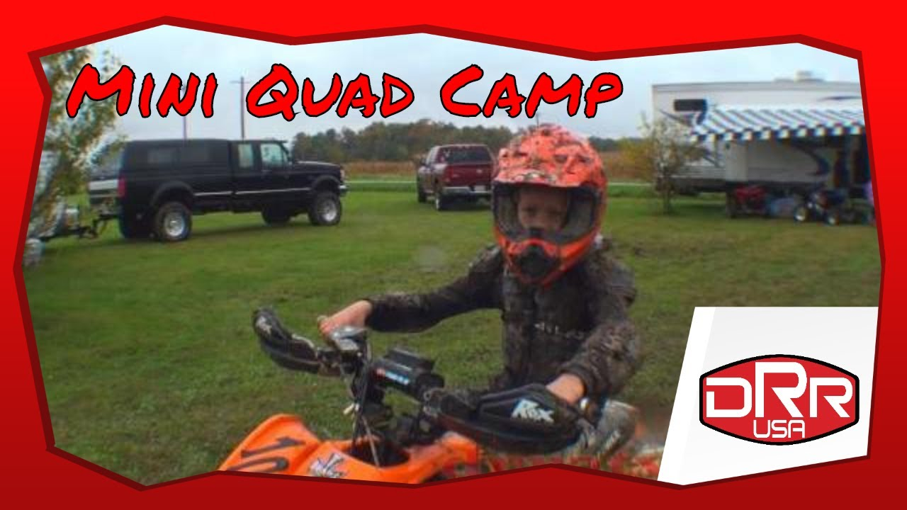 DRR ATV mini racing camp kids show off their ATVs and