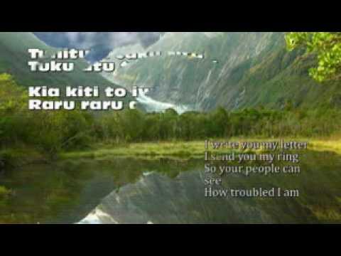 Pokarekare Ana with Lyrics, sung by Alister Marsh.avi