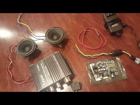 The Internal Hook Up of the -DIY Bluetooth Speaker Build