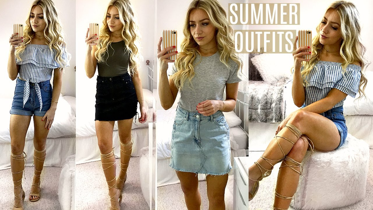 SUMMER OUTFITS OF THE WEEK / SUMMER OUTFIT IDEAS LOOKBOOK 2017 - YouTube