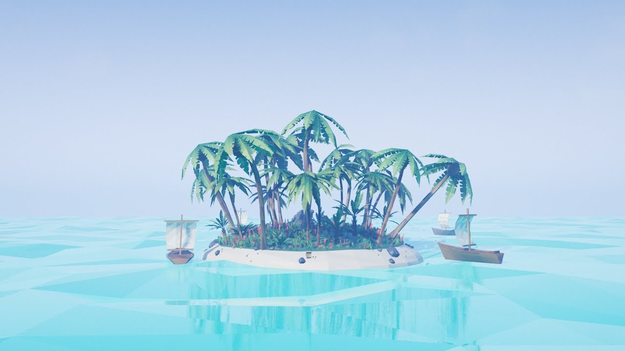 Low Poly Island (Unreal Engine 4 Asset Pack)