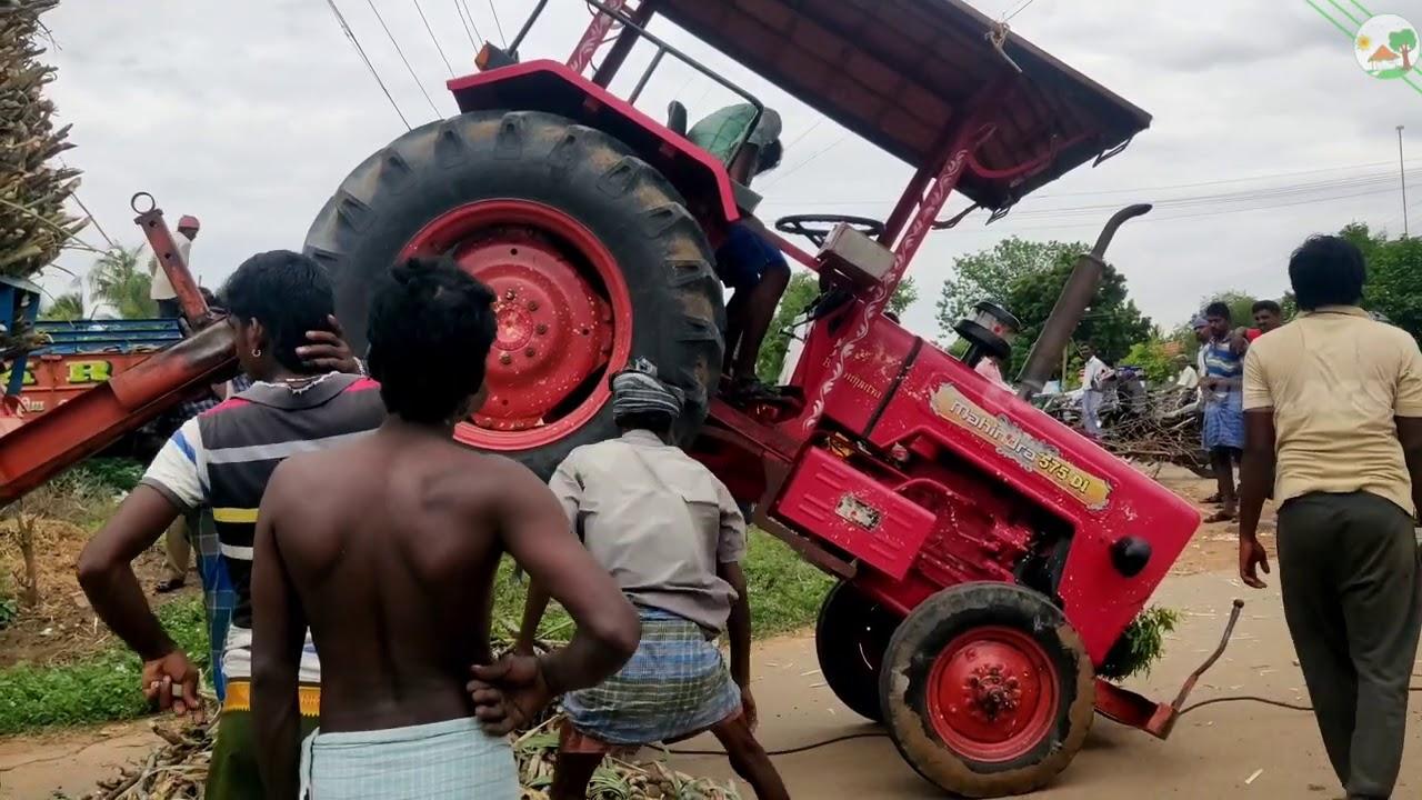 Mahindra 575 DI Tractor Upset with sugarcane load   Mahindra Tractor