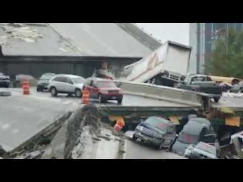 BREAKING NEWS - Brazil overpass, World Cup project, collapses