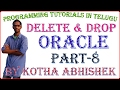 Delete and Drop in Oracle in Telugu