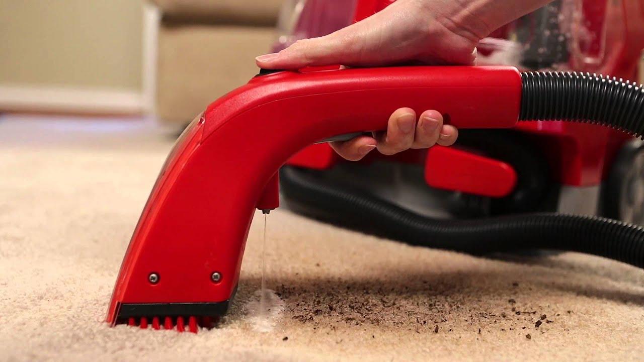 rug doctor portable spot cleaner using the motorized brush - youtube