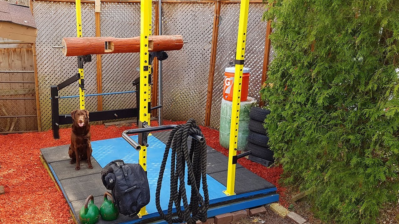 Awesome outdoor gym and weightlifting platform diy youtube