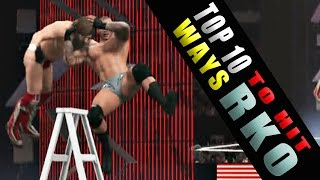WWE 2K15 - TOP 10 Ways to Hit RKO!! HD