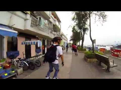 Inline Skating - Peng Chau and Cheung Chau Island 坪洲 長洲 2015-02-24
