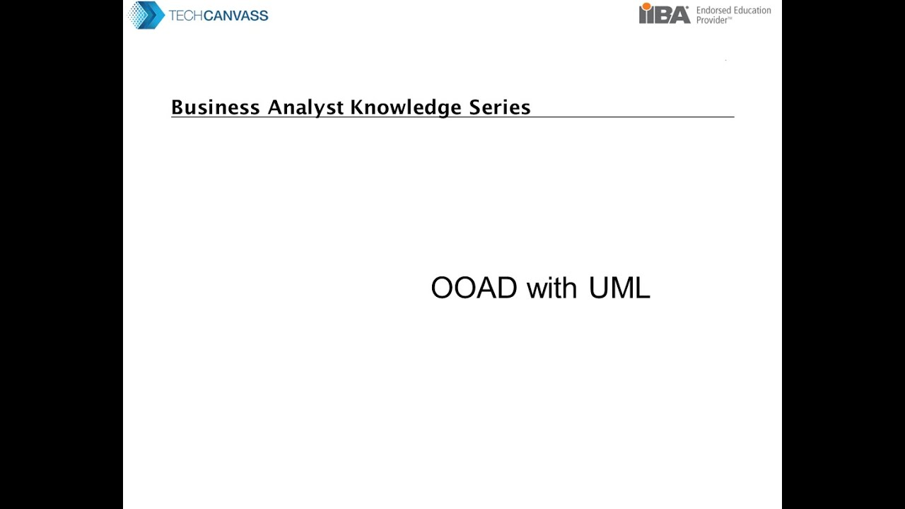 Business analyst training introduction to ooad with uml youtube business analyst training introduction to ooad with uml ccuart Gallery