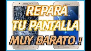 COMO REPARAR PANTALLA DE CRISTAL DE MOVIL GRIETA ROTO BARATO SAMSUNG HUAWEI IPHONE LG RAJADO
